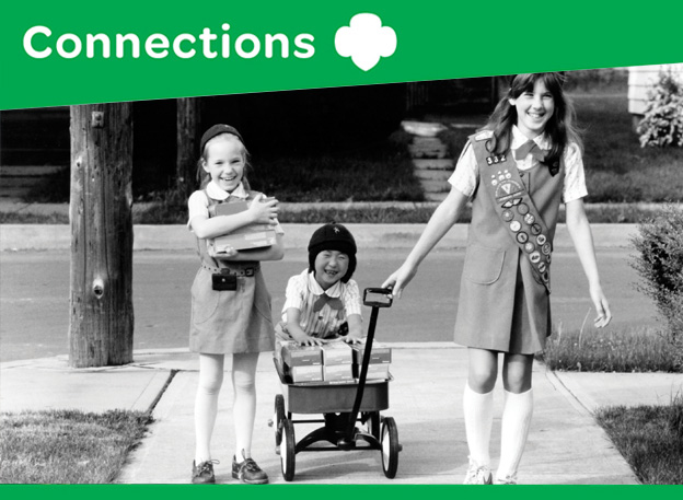 Vintage Girl Scout cookie sale
